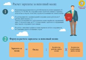 Как осуществляется расчет заработной платы при неполной рабочей неделе