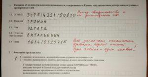Заявление о внесение изменений в ЕГРИП по форме Р24001