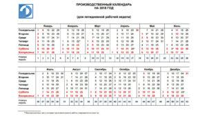 Производственный календарь Республики Татарстан на 2018 год
