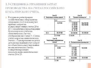 Отражение хозяйственных операций в бухгалтерском учете