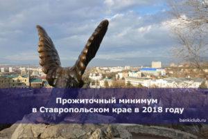 Прожиточный минимум в Ставропольском крае
