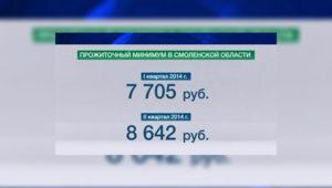 Прожиточный минимум в Смоленской области