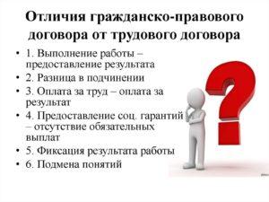 Гражданско-правовой договор не заменит трудовой при систематическом характере работы
