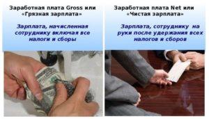 Понятия gross и net зарплаты