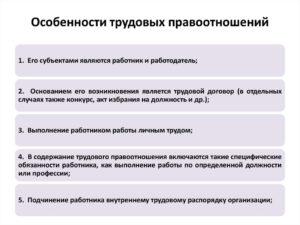 Основные объекты трудовых правоотношений