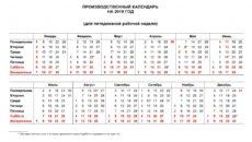 Производственный календарь Республики Башкортостан на 2018 год