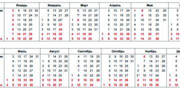 Производственный календарь на 2021 год Республики Башкортостан