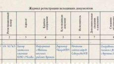 Журнал регистрации исходящих документов