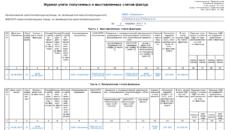 Журнал учета полученных и выставленных счетов-фактур