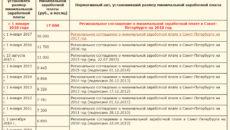 МРОТ в Санкт-Петербурге