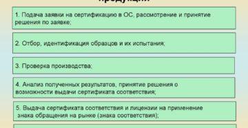 Каков порядок проведения сертификации продукции